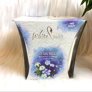 White Swan Double Wick Candle